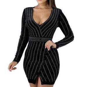 Ya Ya & Co. Velvet Long Sleeves Mini dress